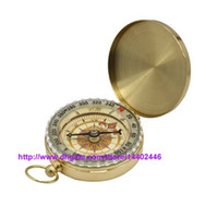 Wholesale Lowest Price Delicate Brass Pocket Watch Style Outdoor Camping Compass Golden Classic Antique