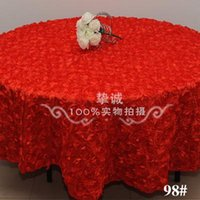Wholesale High grade Wedding Banquet Table Cloth Round Overlays D Rose Round Tablecloths Wedding Decoration Supplier Colors to choose