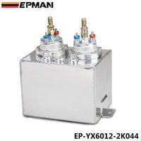 Wholesale EPMAN L Sliver BILLET ALUMINUM FUEL SURGE TANK SURGE TANK PC HIGH QUALITY EXTERNAL FUEL PUMP EP YX6012 K044
