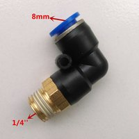 Wholesale 10pcs Pneumatic Fittings L type mm quot Pipe Fitting PL8 Male Elbow