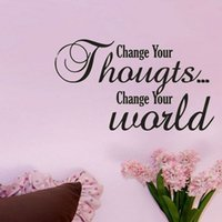 art thoughts - Change Your Thoughts Change Your World Art DIY Decal Removable Wall Sticker For Living Room