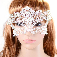 Wholesale Hot selling Lady Mask Masquerade Halloween Exquisite Lace Half Face Mask For Lady Black White red Option Fashion Sexy