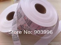 label printing - Customized clothing label care label garment bag printed tag washing label