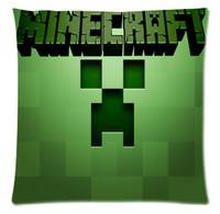 decorative mosaic pattern - Decorative Sandbox game pillowcase Minecraft steve Custom Zippered Square Pillow Case Mosaic smile face pillowcase pattern A3