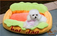 Wholesale Rybopet Pet dog cat beds detachable washable Hot dog kennel Cute cartoon portable bag Soft Beds Plush Suede Luxury Cozy Small cm