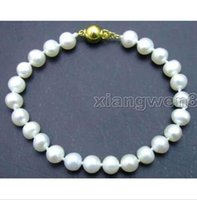 beaded mothers bracelets - AAA MM round WHITE shell PEARL BRACELET inch Her mother best friend gift
