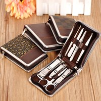 Wholesale 8 sets of stainless steel nail clippers manicure sets manicure beauty tools portable mini manicure kits optional texture
