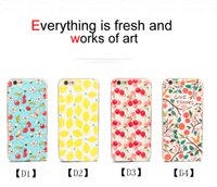 best apple fruit - Luxury Mobile Phone Cases for Iphone S Splus Fruit Pattern Best Protective Cases Dustproof TPU PC Phone Case