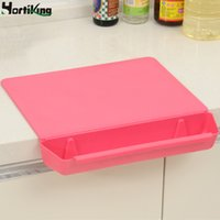 Wholesale New plastic dual function design chopping block non slip cutting board with vegetable basket removable combo kitchen accessories