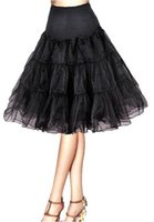 Wholesale 2015 Girls Women A Line Short Petticoat In Stock Black White For Short Party Dresses Wedding Dresses Hot Selling