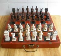 Wholesale Chinese dragon phoenix Flower Bird wood leather box Chess Set Pieces Free
