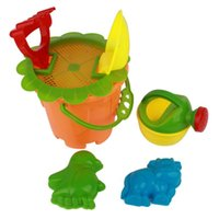 Wholesale Plush Toy Beach Toys Set New Little Kids No Spill Big Bubble Bucket Seaside Beach Toy Set for Playing Sand and Water with Bucket and Kettle
