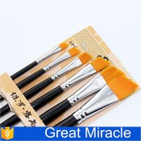 acrylic paint crafts - Cheap Artist Paint Brushes Angle Paint Brush Set for Watercolor Acrylic Gourache Oil Painting Art Craft Detail Painting