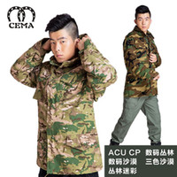 Wholesale US M65 rode spring models outdoor hooded windbreaker skin coat male European style camouflage clothing military fans equipment