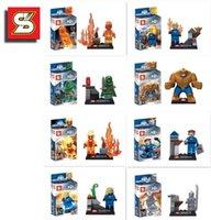 Wholesale Super hero block full set the Avengers Figures Iron Man Hulk Batman Thor Building Blocks Sets opp bag packing