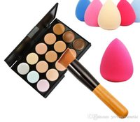 Wholesale DHL Color Concealer Palette Set with brush Makeup With logo and without logo choice top brand excellent quality