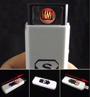 Wholesale USB Lighter Rechargeable Usb Lighter Electric Electronic Lighter Cigarettes Lighters Winproof Farmless Lighter for