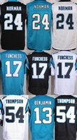 Wholesale Panthers Josh Norman Kelvin Benjamin Shaq Thompson Devin Funchess Graham Gano Stitched Jerseys Blue