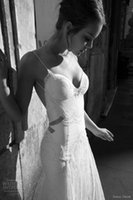 Wholesale 2015 Gorgeous Spaghetti Strap Sexy Mermiad Lace Beads Backless Wedding Gowns YAO111203