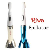 Wholesale Riwa RF B A Eyebrow Trimmer Bikini Titanium Heads Waterproof Lady Shaver Women s Epilator For Face Armpit Leg Hair Remover new