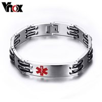 medical id - 13 mm Wide Medical Bracelet Men Jewelry Stainless Steel ID Bracelets Bangles Chunky Chain cm in Length Vnox BR Jewelry Christmas pa