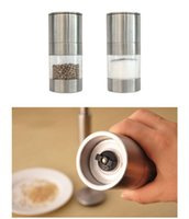 Wholesale Hot Sales Manual Stainless Steel Salt Pepper Mill Grinder Kitchen Tool Plastic Size CM C284