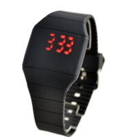 Cheap Hot sale New Fashion Silicone Mens Womens Digital LED Touch Sports Bracelet Waterproof Wrist Watch Black Strap free shipping