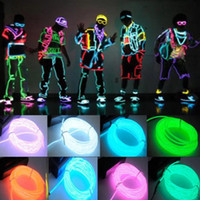 Wholesale Flexible Neon Light Colors M EL Wire Rope Tube with Controller Halloween Christmas Decoration LED Light