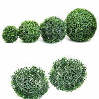 artificial boxwood ball - New Artificial Plant Ball Tree Boxwood Wedding Event Home Outdoor Decoration Hot