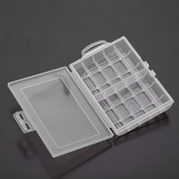 Wholesale Transparent Plastic Portable Batteries Battery Holder Case Storage Box Cover for AA AAA Standard Rechargeable Batteries