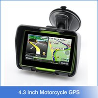 Wholesale 2016 Hot Inch Motorcycle GPS Car Gps Navigation IPX7 Waterproof GB Internal Memroy for Motorcycle Maps of Most Countries