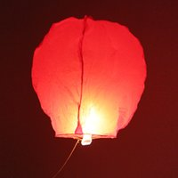 ballon fast - Oval Chinese Sky Lanterns Fire Kongming Laterns Romantic Sky Light Fast Shipping from USA Red pieces