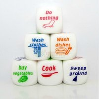 Wholesale 2014 special offer dice fun philadelphian boulimia couples families children housework distribution game christmas gift
