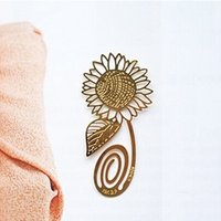 baby shower plates - 20pcs K Gold Plated Sunflower Bookmark Book card For Wedding Baby Shower Party Birthday Favor Gift Souvenirs Souvenir CS017