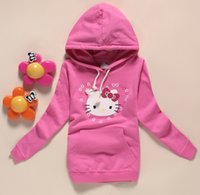 Wholesale Autumn children s clothing girls pink hooded sweater hooded top shirt jacket coat size