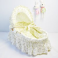 Wholesale 2015 Newborn Baby Bassinets Baby Care Ourdoor Baby Crib Cradle with Corn Bran Woven Portable Infant Sleeping Basket