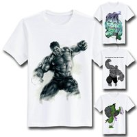 avengers exclusive - EATGE EXCLUSIVE Creative Cool Hulk Avengers Print T Shirt Round Neck Short Sleeve Fashion Tee shirt For Both Men And Women