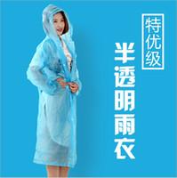 Wholesale 4 colors High quality PVC raincoat Translucence Light And Thin Travel capa de chuva Portable Unisex chubasquero mujer HouseholdZy00249