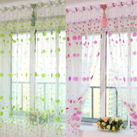Wholesale Flower Design Sheer Voile Window Curtain Chrysanthemum Floral Panel Living Room Divider Screen Home Drape