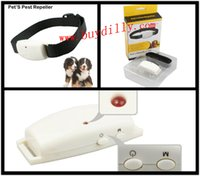 Wholesale 100Pcs Fashion Electric Ultrasonic Pet dog anti pest animal repeller To Protect Pet From Any Dangerous Pest P09