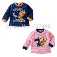 Wholesale Anpanman Girl s jumpers blouse long sleeve tshirts Cotton