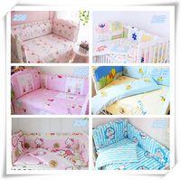 Wholesale Hot Sale Girl Baby Cot Bedding Set New Design Bedding Set D Sandwich Material Cotton Breathable Sheet Kid Crib Bed Set