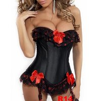 gothic wear - Hot Sexy Women Lace Corsets Bustiers Gothic Steampunk Waist Training Underwear Skull Corset Fashion Corselet Party Club Wear Top
