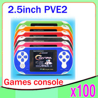 Wholesale DHL Electronics new hot Child game machine pve color screen handheld game consoles handheld puzzle child gift toy handh ZY PVE2