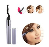 Plastic battery eyelash curler - Portable Electric Eyelash Curler Pen Style Heated Long Lasting Makeup Beauty Tools Not Included Battery