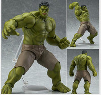 action figures superheroes - Superhero Avengers Hulk Figma PVC Action Figure Collectible Model Toy size in cm with retail box EMS shipping