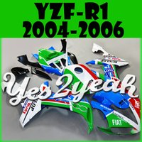 Wholesale Yes2yeah Injection Mold Fairing For Yamaha YZFR1 YZF R1 YZF R1 Body Kit Cyan Red Green White Y14Y25 Free Gifts