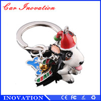 antique blue paint - New Launch D Painting With Hats Belt Scarfs Fashion Metal Christmas Gift Animal Keychain With Keyring