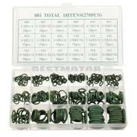 Wholesale 270 Sizes Assortment Kit Air Conditioning HNBR O Rings Set Car Auto Vehicle Repair GREEN