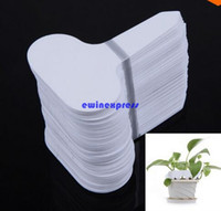 Wholesale 100pcs set Plastic Nursery Garden Plant Label Flower Tag Mark Inserting plant Flower pot indoor gardening tools